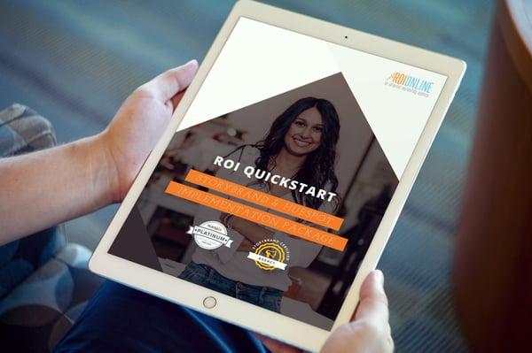 ROI QuickStart Plan PDF on Ipad Pro