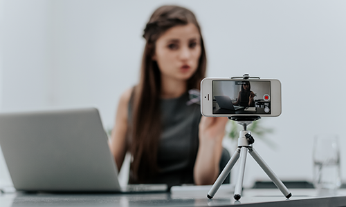 woman-recording-video-on-phone