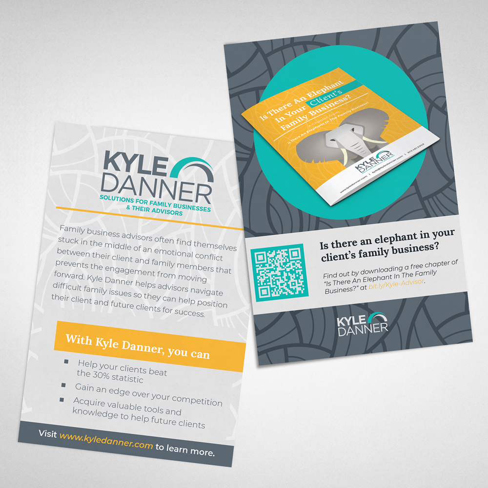 Kyle Danner - Print Postcard - Event Handout - Designed by ROI Online Graphic